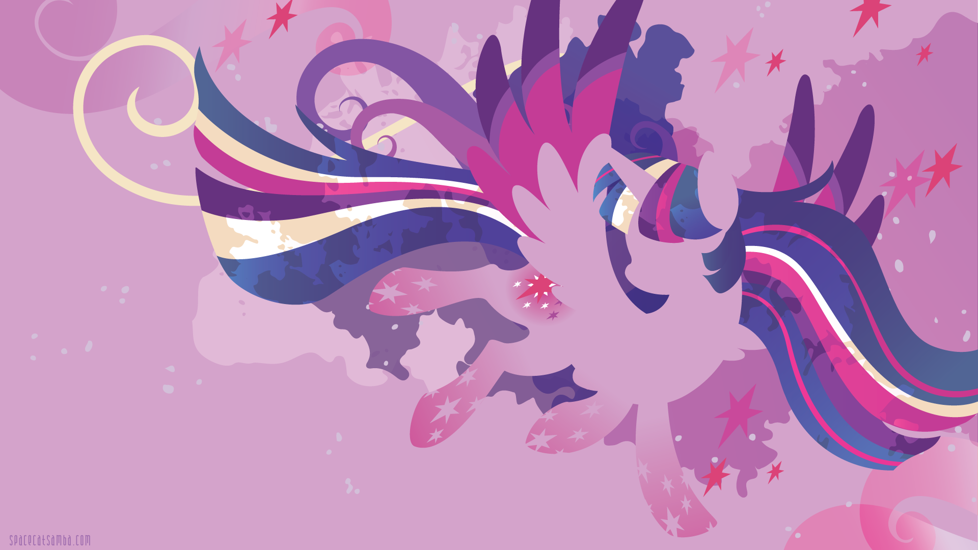 Rainbow Power Twilight Sparkle Silhouette Wall Spacecatsamba Com