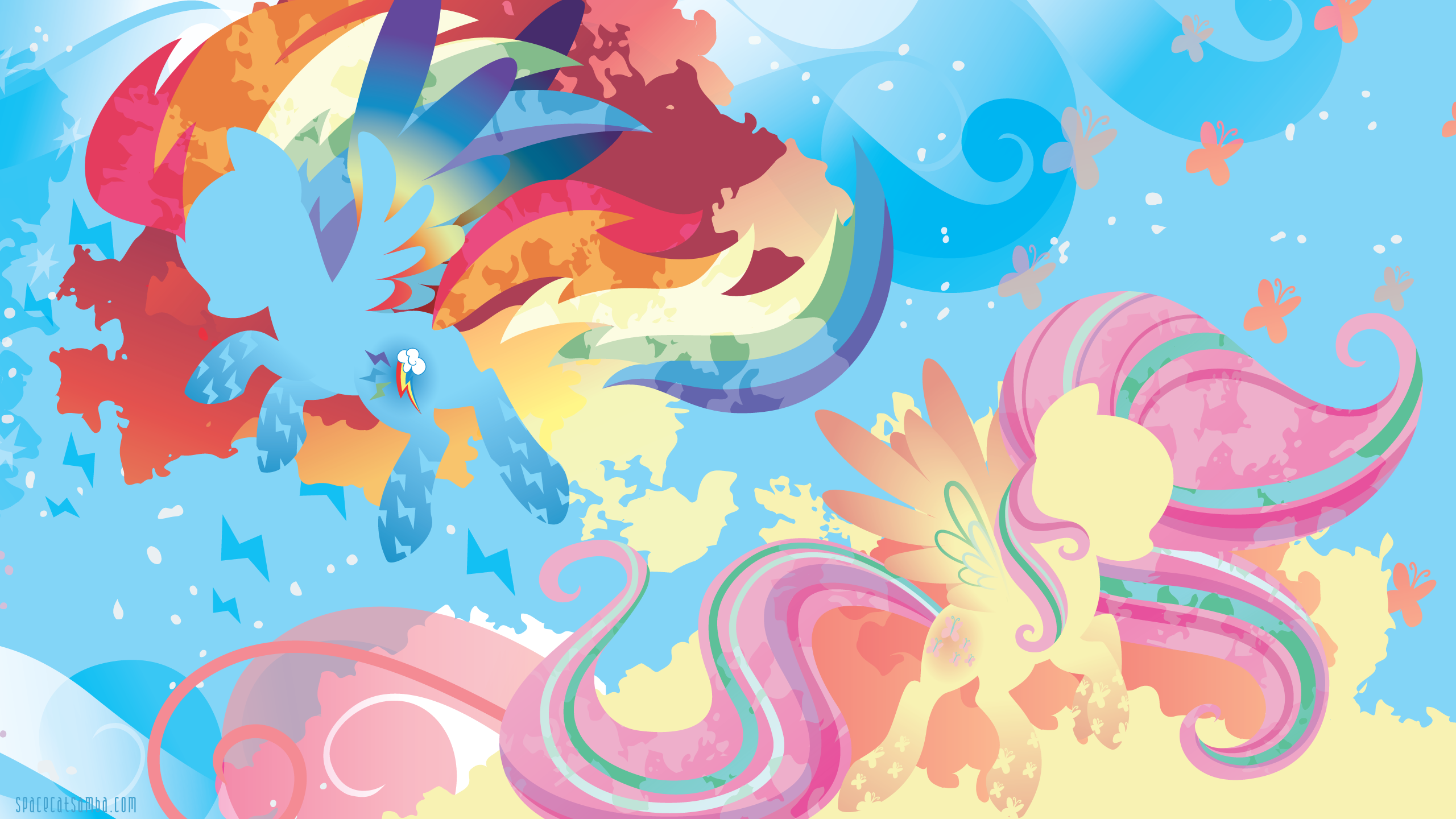 Rainbow Power Dash And Fluttershy